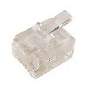 GS-0181 Connector, 10 Pack, RJ11, 6P4C Modular