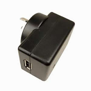 GS-0183 Adapter, 110V-230V Australia/NewZealand AC Wall Plug to 5V USB, Zip-Linq